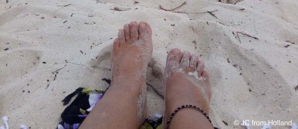 JC from Holland, white beach