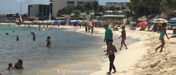 Clean beach Playa del Carmen, 31 july 2019