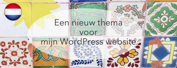 Wordpress nieuw thema kiezen