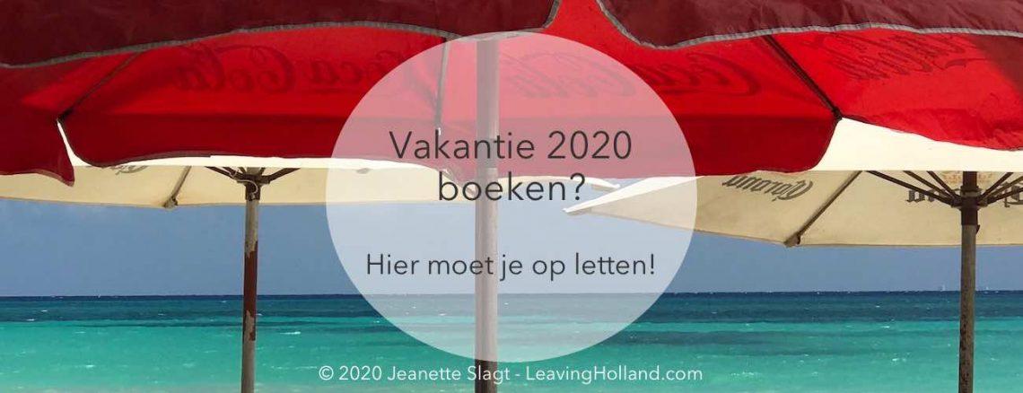 vakantie 2020 boeken tips