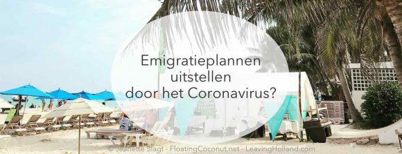 corona uitstel emigratie