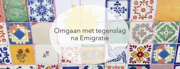 tegenslag na emigratie