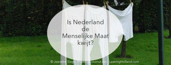 menselijke maat, Nederland, Schulden, Emigratie
