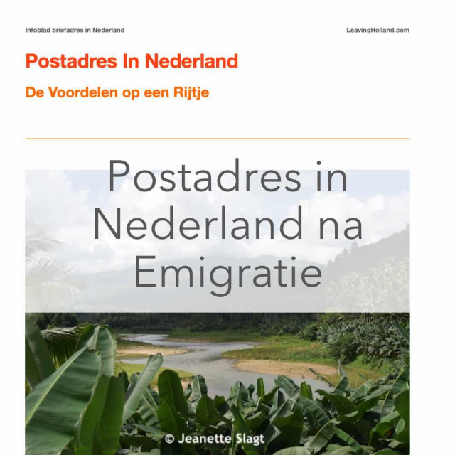 Postadres in Nederland product